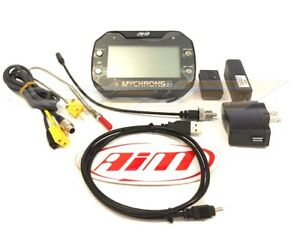 AIM sport MyChron5 2T Dash Data Logger Kart Lap Timer With GPS EGT TEMP Sensor