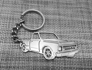 Chevrolet C10 Stepside, keychain by your picture, custom gift