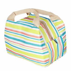 3x Insulated Lunch Bag Aluminum Foil Bento Bag For Outdoor Picnic Camping