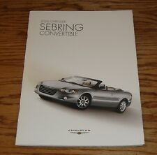 Original 2006 Chrysler Sebring Convertible Sales Brochure 06