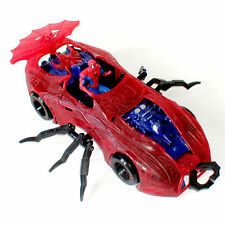 """MARVEL Comics Spiderman spidermobile 12"""" Auto Giocattolo per 4"""" -5"""" Figure"""