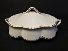 Haviland & Co Limoges Covered Vegetable Dish White with Gold Trim