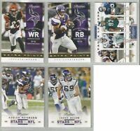Minnesota Vikings 5 card 2012 Prestige insert & parallel lot-all different