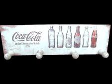 Coca-Cola Wooden Evolution Bottle Whitewashed Coat Rack   - BRAND NEW