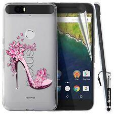 Madcase Cute Designs Clear Silicone Gel Diamante Case For Huawei Google Nexus 6P