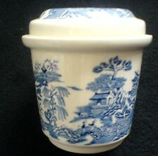 Mason's 'Willow' Pattern Ringtons Lidded  Jar / Pot