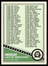 2019-20 UD OPC O-Pee-Chee Retro Base #300 Checklist