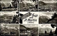 St. Martin a. Grasberg Bayern Mehrbild-AK 8 Fotos 1965 alte Ansichtskarte