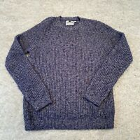 Topman Mens Knitted Jumper Small Blue Cotton Pullover