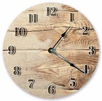 """10.5"""" SAND WASHED WOOD CLOCK - Large 10.5"""" Wall Clock - Home Décor Clock - 3086"""