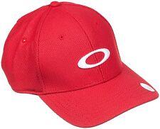 Oakley Men's Golf Ellipse O Hydrolix Adjustable Cap Hat - Red Line