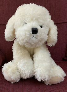 Russ Berrie Bichon Frise Puppy Muffin White Plush Toy Dog Stuffed Animal 13""