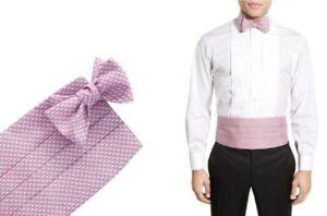 NIB Vineyard Vines Cummerbund And Bow Tie Set Light Pink w/ Whale Logo MSRP $110