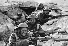 B&W WWII Photo British Infantry Libya 1941 Enfield  WW2 World War Two Britain UK