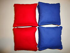 8 Water Resistant Cornhole Bean Bags Set Tailgate Toss  Red and Royal Blue