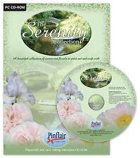 Pinflair la serenità RACCOLTA N. 1 SCENE + FIORI CD01 550 fogli stampabile