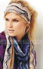 MISSONI camel/gray Zigzag POINTELLE 100% wool Large FRINGED scarf &BOX Authentic