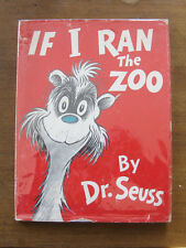 IF I RAN THE ZOO by Dr. Seuss - 1950  1st/early  HCDJ  VG+ 295/295 - cat hat