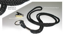 Wholesale 100 Round Braided Black Neck Lanyards,w/bulldog clip-ID Badge Holder