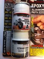 Epoxy Aluminium Paste For Fixing Cracks In Metal Parts Engine Blocks Heads 80g