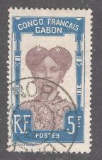 Gabón Sello # 48 — 5fr Alto Valor — 1910 — Usado
