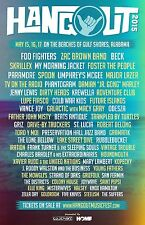 HANGOUT FESTIVAL 2015 GULF SHORES CONCERT POSTER - Foo Fighters, Zac Brown, Beck