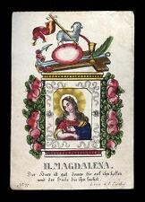 santino incisione 1800 S.MARIA MADDALENA. dip. a mano