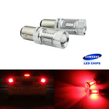2x P21/5W BAY15D LED Rouge 15W Ampoule Feux de Stop Freinage Arrière Veilleuse
