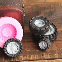 3D Car Tires Silicone Fondant Mold Cake Decor Baking Sugarcraft Mould Tool QK