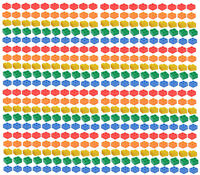 ☀️NEW LEGO 2x2 Bricks 400 Count 5 Assorted Colors Blue green yellow red orange