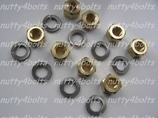 M8 X 1.25MM  EXHAUST MANIFOLD BRASS NUTS+STAINLESS WASHERS