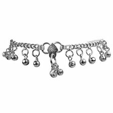 Silver Bell Drop Ankle Bracelet Anklet Foot Chain Boho Gypsy Belly Dance Jingle