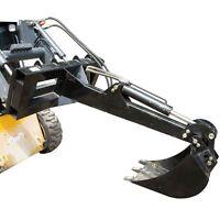 "Skid Steer Backhoe w/ 14"" Bucket Excavator Attachment Bobcat Front Loader Titan"