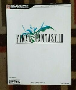 Final Fantasy III Bradygames Official Strategy Game Guide Nintendo DS
