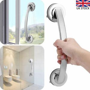 2X Bathroom Suction Cup Grip Shower Tub Grab Bar Safety Handle Handrail Bath UK
