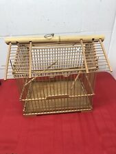 Bamboo Bird Cage Asian Wooden Pet Nest Home
