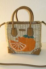 MICHAEL Michael Kors Malibu Natural Tangerine Medium Straw Crossbody Bag $228