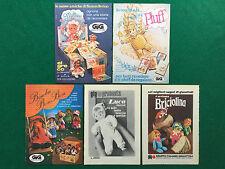 PB47 Pubblicità Advertising Clipping 19x13 cm (5 pezzi) BAMBOLE GIG EL GRECO