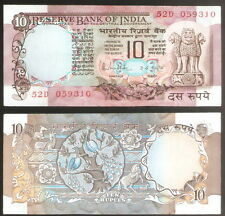 10 Rupees R.N.Malhotra (C Inset) Peacock @ Uncirculated Condition ( D-38)