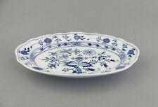 ⚔ Meissen Platte oval Zwiebelmuster  Bratenschale 00307- 28,2x 20,2cm - vor 1888