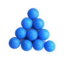 New .68 cal Reusable resilient soft Rubber Training Balls Paintballs  Blue