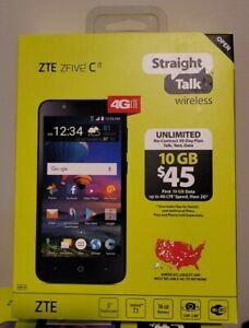 🔥NEW🔥 Straightalk ZTE Zfive C 4G LTE 16GB Prepaid Smartphone