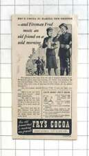 1941 Fireman Fred Is Thankful For Fry's Cocoa