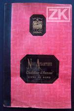 NORD ATLANTIQUE DP+Buvard Chalutier Livre de bord ECLAIR Bateau Mer CLOCHE 1939