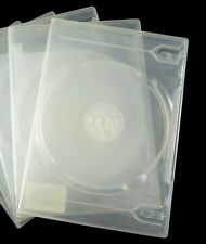 8 - Transparent Clear Game DVD Disc Replacement Cases Double (2) Capacity Used