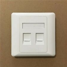 2 port Double RJ45 Wall Face Plate/Faceplate Network LAN Cat5e/6