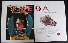 Omega Seamaster Watch  ft. Michael Schumacher 1995 print ad from magazine