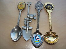 4 Disney Mickey Mouse Collector Spoons