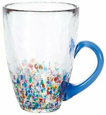 ADERIA Tsugaru Vidro Glassware Mug Nebuta Ruri Blue 320ml F-71654 MADE IN JAPAN