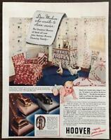 ORIGINAL 1940 Hoover Vacuum Cleaners PRINT AD Baby's Nursery